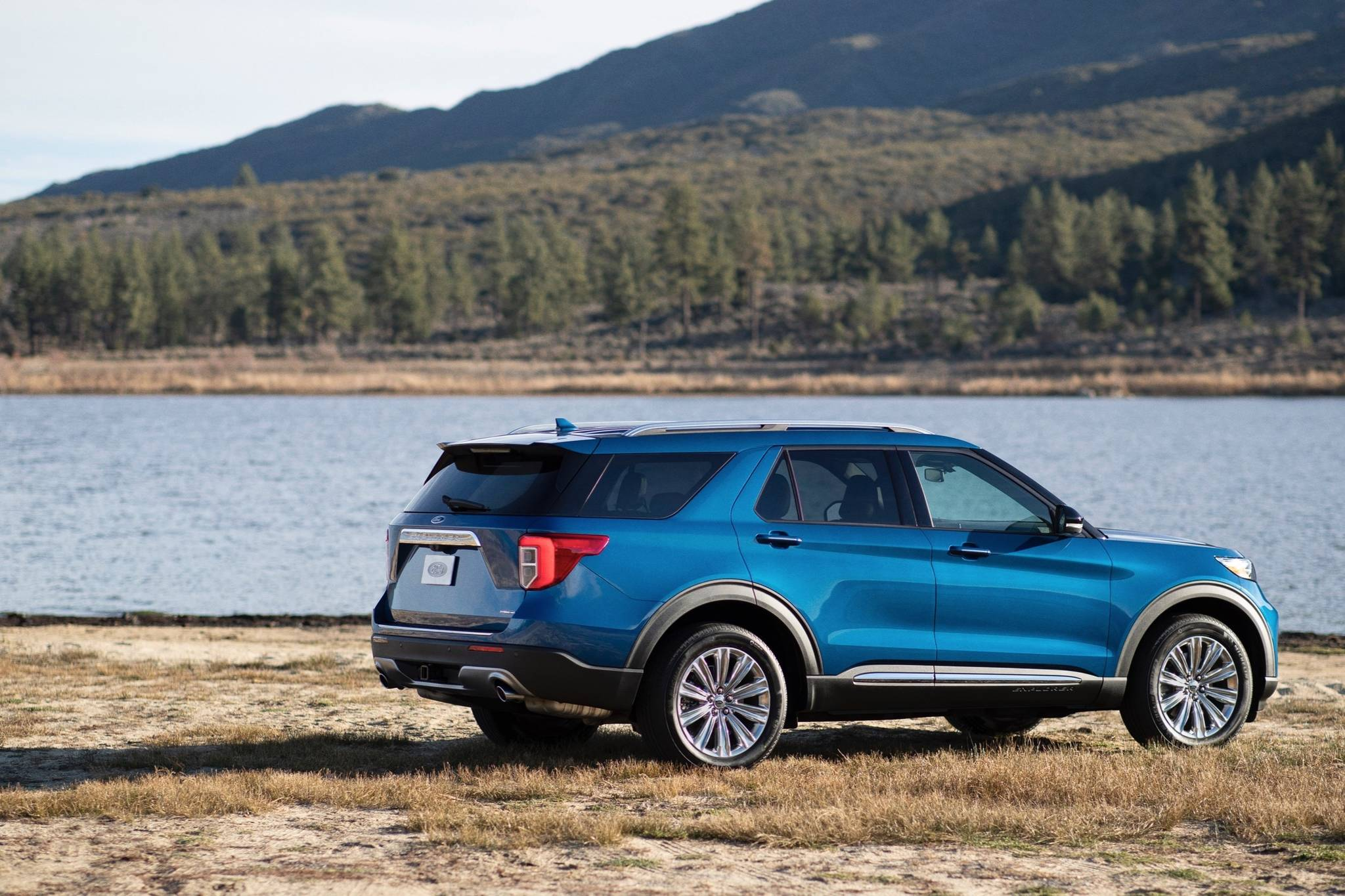 The Hybrid combines a twin-turbocharged V-6 with an electric motor (net output is 318 horsepower), but it's only available with the Limited trim. Photo: Ford