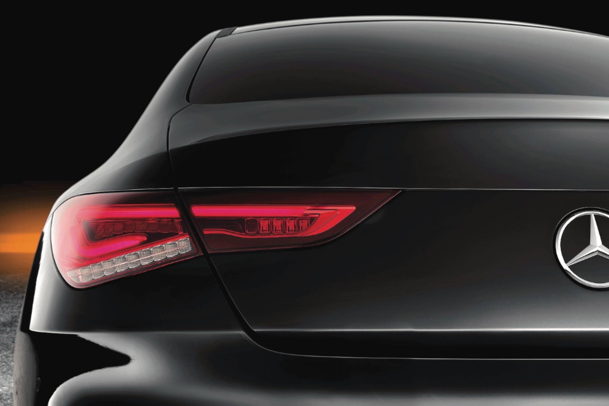 Although Mercedes has addressed practicality by making the truck lid more than 24 centimetres wider at the base, the CLA clings to its artful fastback design, a shape that unfortunately crowds back-seat passengers. Photo: Mercedes-Benz