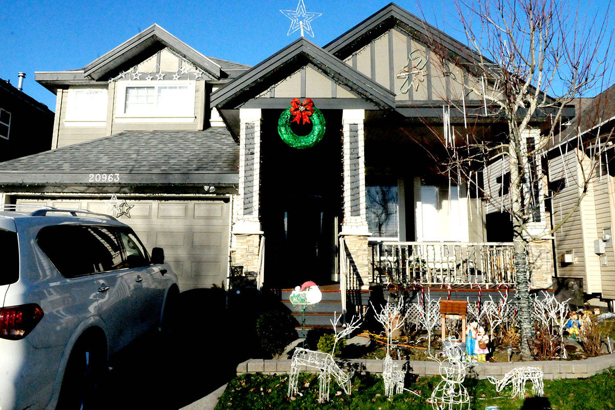 A Willoughby household had the RCMP called on them because their holiday display was too bright and loud. (Ryan Uytdewilligen/Langley Advance Times)