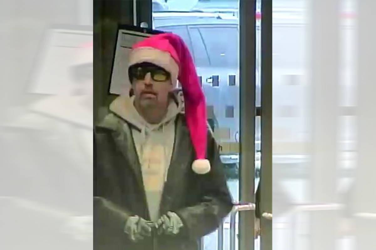 Man in Santa hat suspected of robbing Nanaimo bank