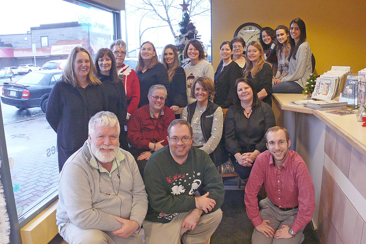 Langley Advance Times staff, Christmas 2019. (Dan Ferguson/Langley Advance Times)