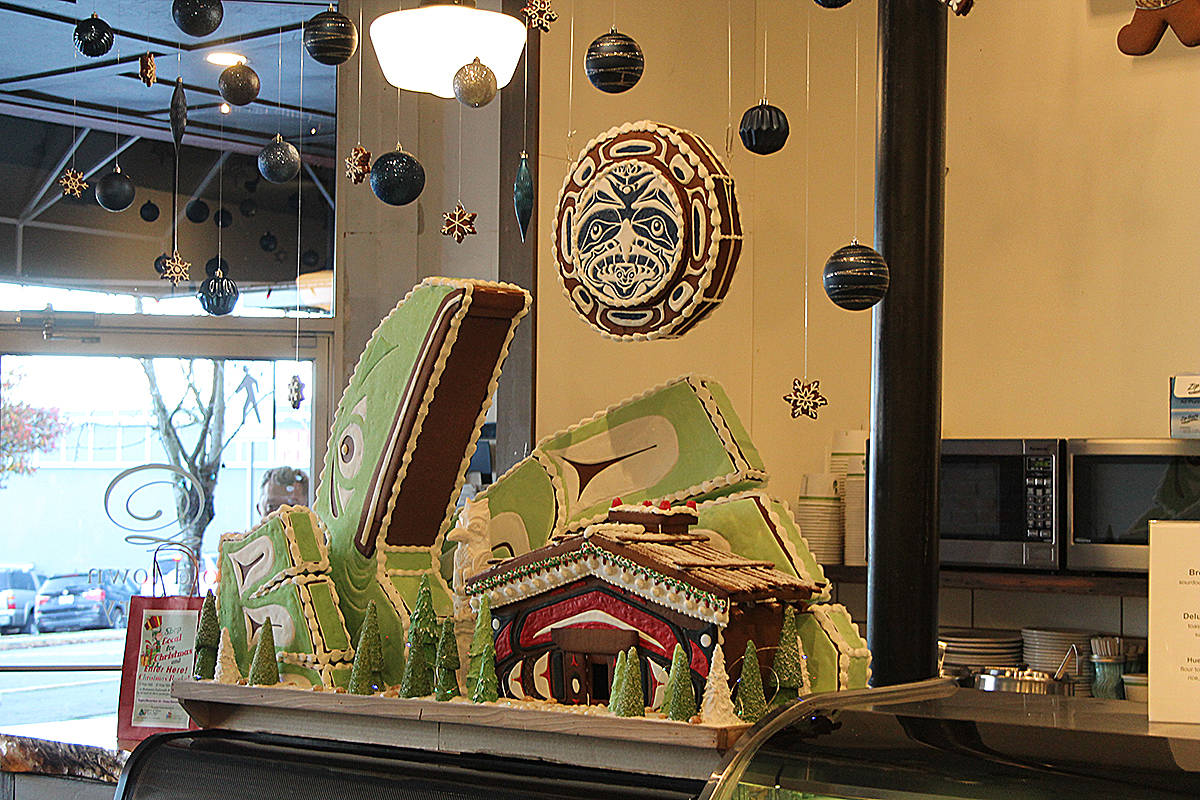 Geoff Cram's Coast Salish inspired gingebread house (Cole Schisler photo)