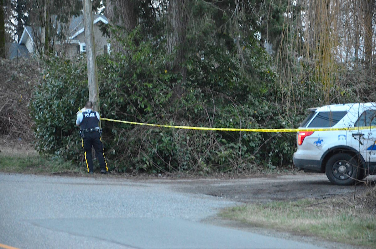 Police are at a home in the 2900 block of 224th Street on Boxing Day as they investigate a Christmas Eve death. (Heather Colpitts/Langley Advance Times)