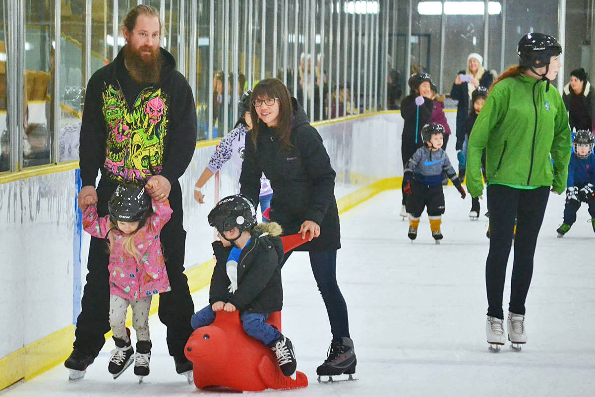 On Jan. 2 families will be able to enjoy a free skate at Aldergrove's community arena, hosted by the Aldergrove Credit Union. (Aldergrove Star files)