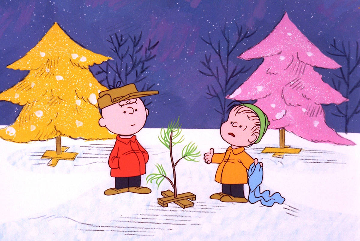 "FILE – In this promotional image provided by ABC TV, Charlie Brown and Linus appear in a scene from ""A Charlie Brown Christmas, which ABC will air Dec. 6 and Dec. 16 to commemorate the classic animated cartoon's 40th anniversary. The animated special was created by late cartoonist Charles M. Schulz in 1965. (AP Photo/ABC, 1965 United Feature Syndicate Inc.,File)"