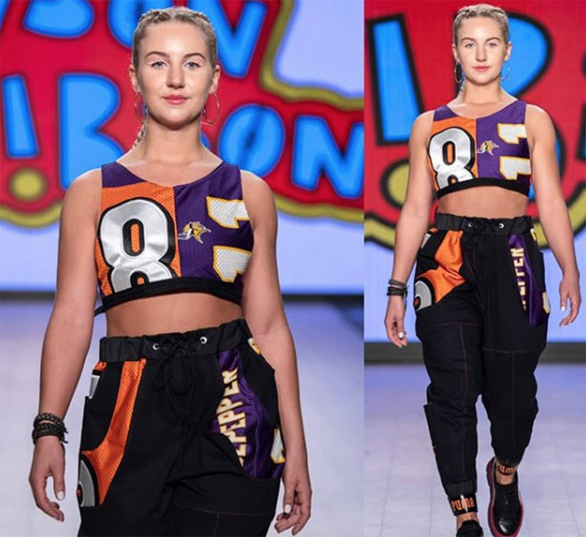 This is one of Tyson Gibson's designs that was featured on the catwalk at Vancouver Fashion Week in October.