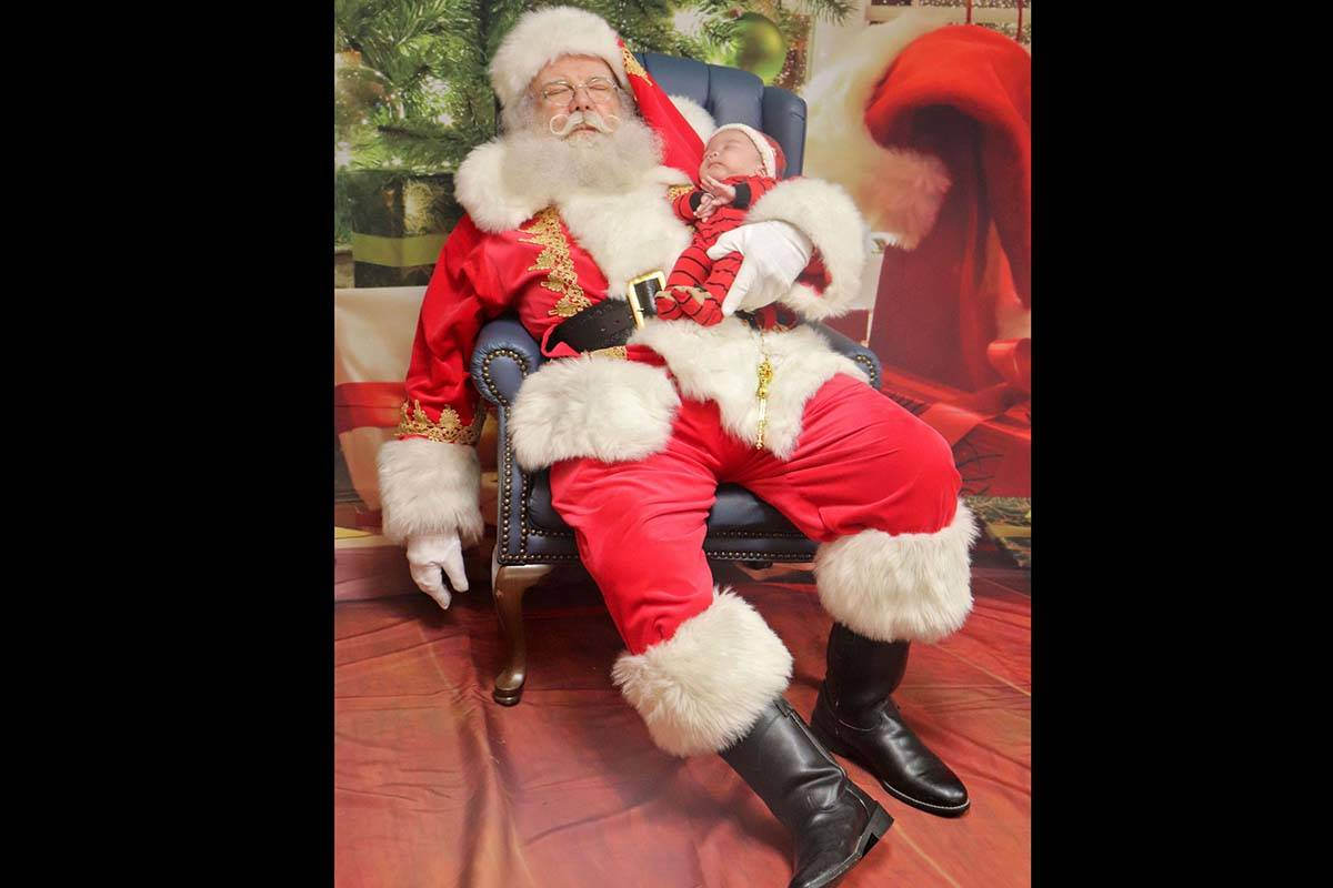 'Santa of 50 years catches a snooze' by Sarah Grochowski with the Aldergrove Star.