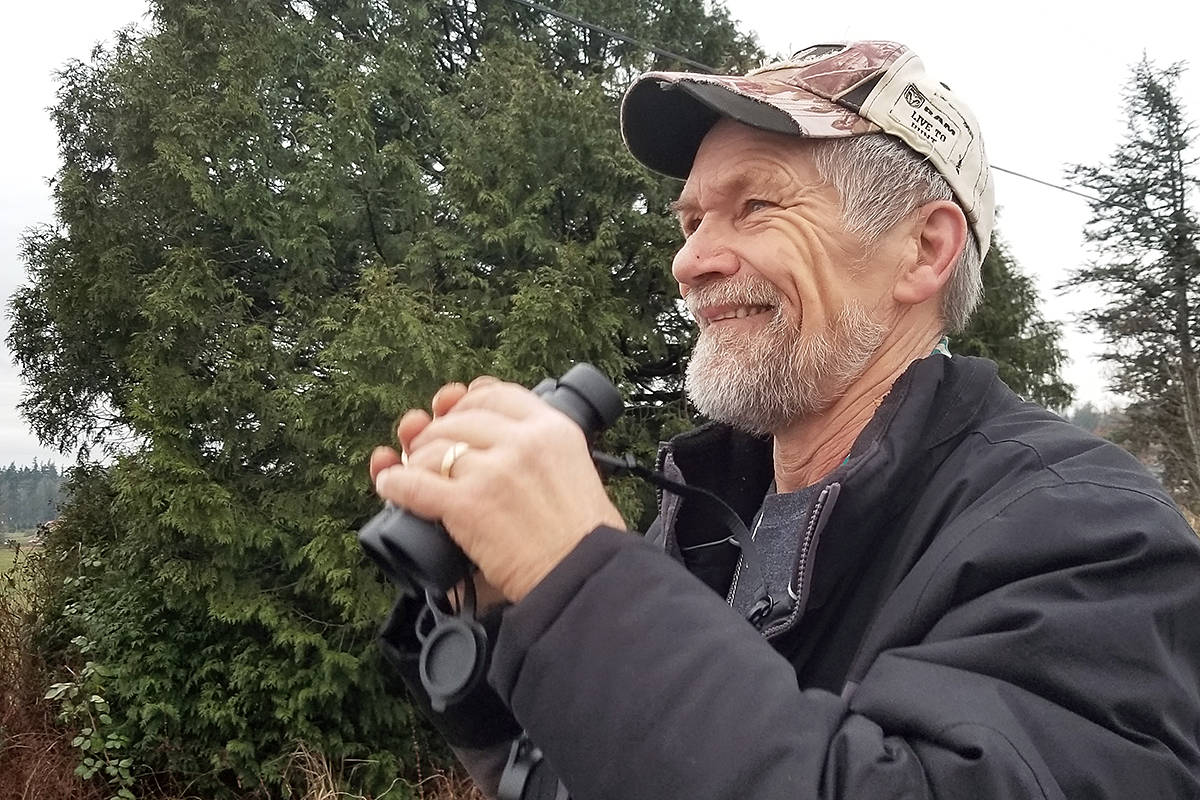 Aldergrove resident Herman Van der Leest was among the dozens of volunteer bird watchers who took part in the 120th annual bird count, an event that takes place throughout North America. The 120th annual bird count was conducted in Langley, as well as other areas of the Lower Mainland, on Saturday (Dec. 28).(Dan Ferguson/Langley Advance Times)