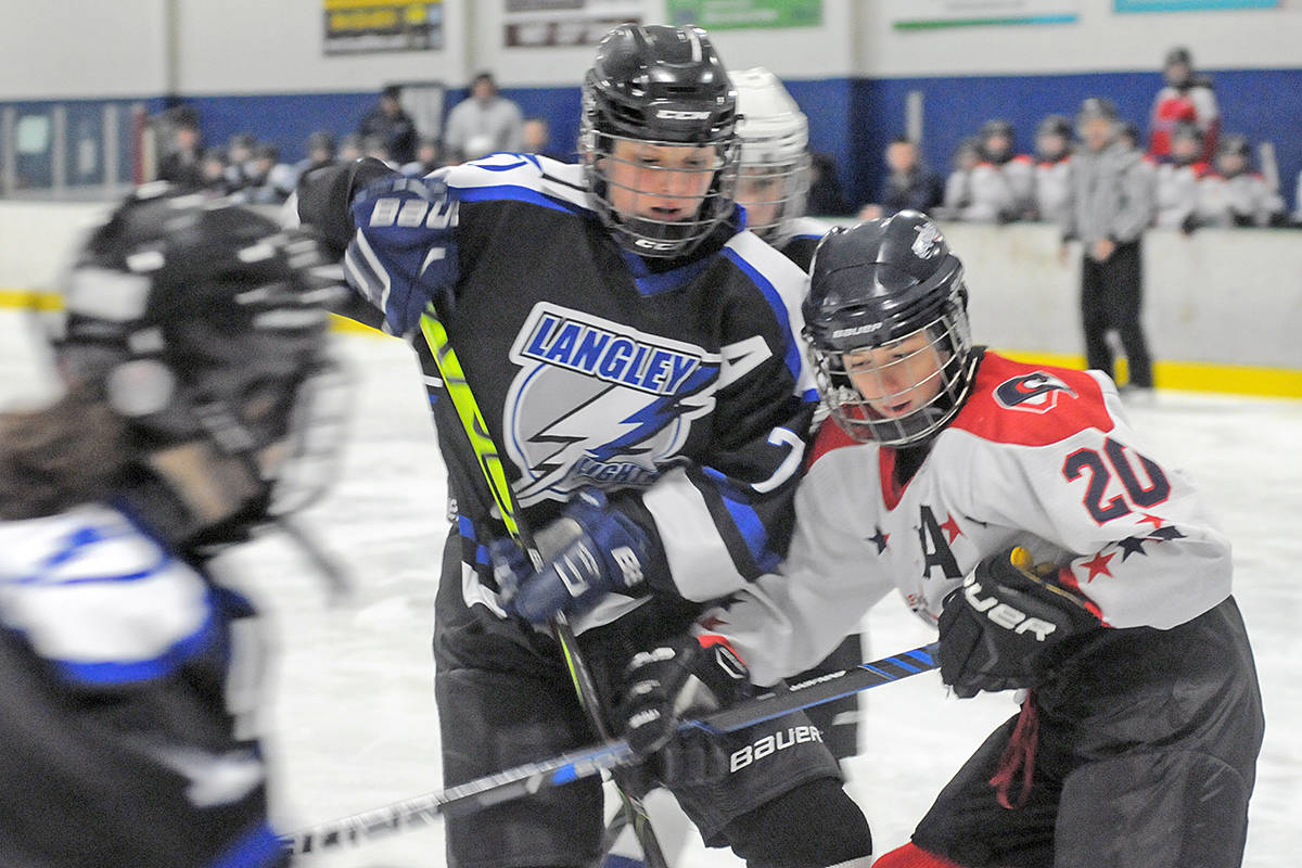 Langley Lightning downed Cowichan 3-1 Saturday (Dec. 28) at the start of the Angels On Ice tournament at the Langley Sportsplex. Dan Ferguson/Langley Advance Times)
