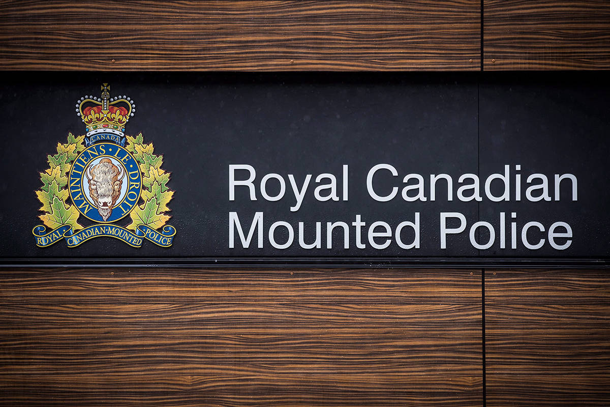 "The RCMP logo is seen outside Royal Canadian Mounted Police ""E"" Division Headquarters, in Surrey, B.C., on April 13, 2018. Declassified records show RCMP intelligence officials devised a secret Cold War plan to use a hidden briefcase camera to photograph Communists and Soviet Bloc officials travelling through Toronto's airport. THE CANADIAN PRESS/Darryl Dyck"
