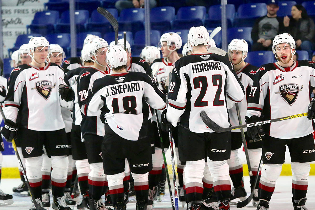 Saturday's (Dec. 28) 6-2 win at Langley Events Centre extended the Giants winning streak to three. (Rik Fedyck/special to Langley Advance Times)