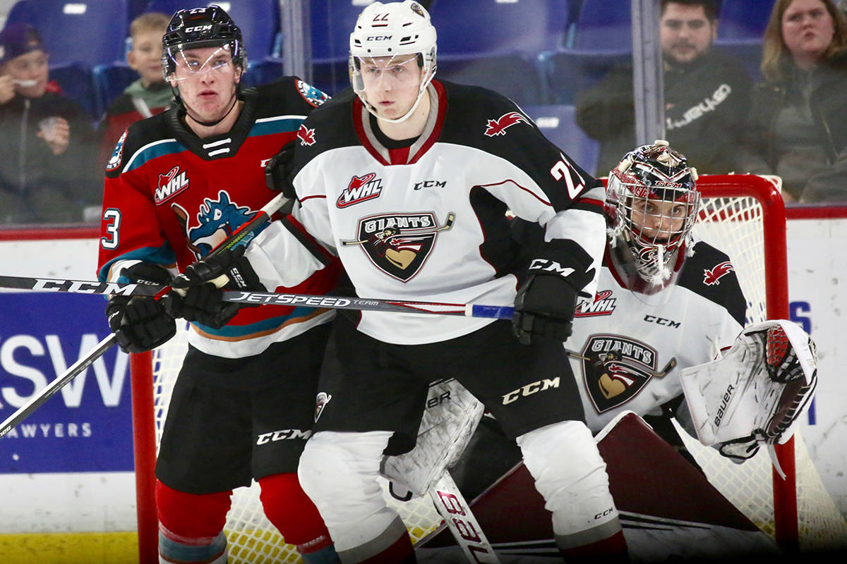 Giants downed Kelowna 6-2 Saturday (Dec. 28) 6-2 at Langley Events Centre. (Rik Fedyck/special to Langley Advance Times)