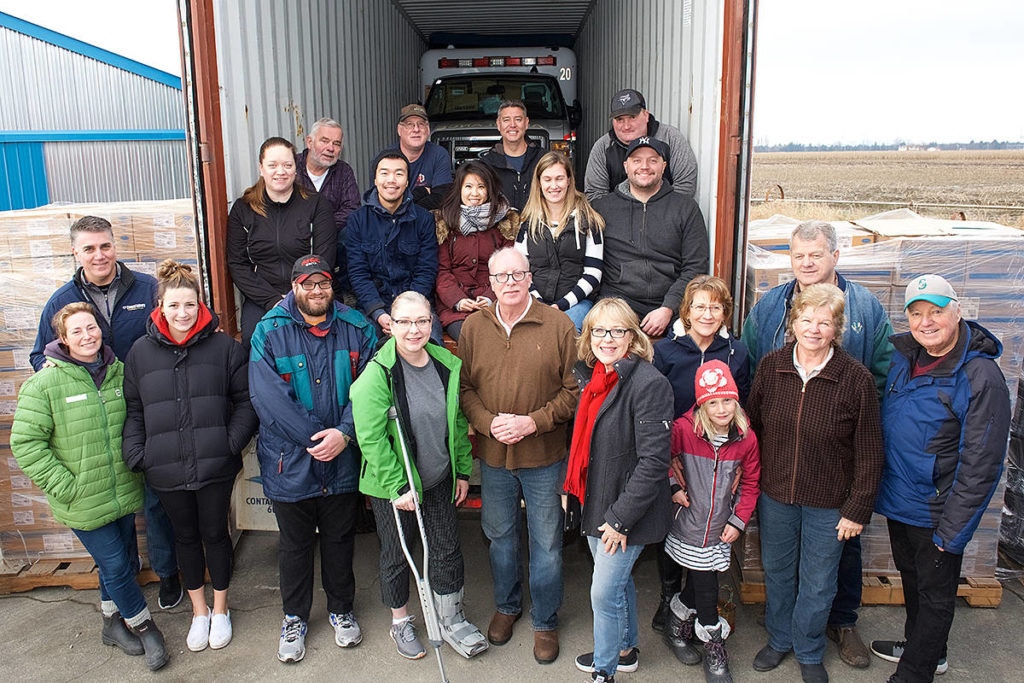 Langley-based Korle-Bu Neuroscience Foundation (KBNF) shipped two shipping containers loaded with medical supplies to West Africa. (KBNF/special to Langley Advance Times)