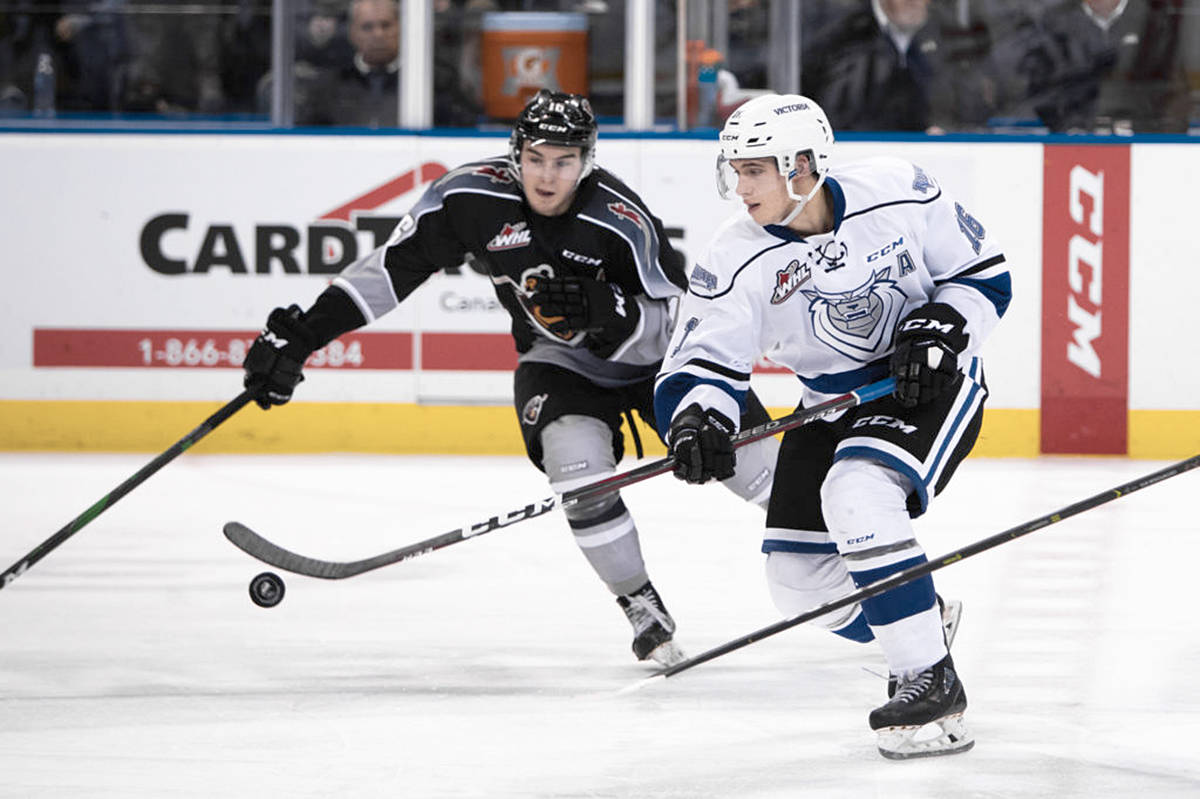 Victoria pays a visit New Year's Day afternoon to take on the Vancouver Giants on their home ice at the Langley Events Centre. The puck drops at 2 p.m. a public skate follows the game. (Jay Wallace/Special to the Langley Advance Times)