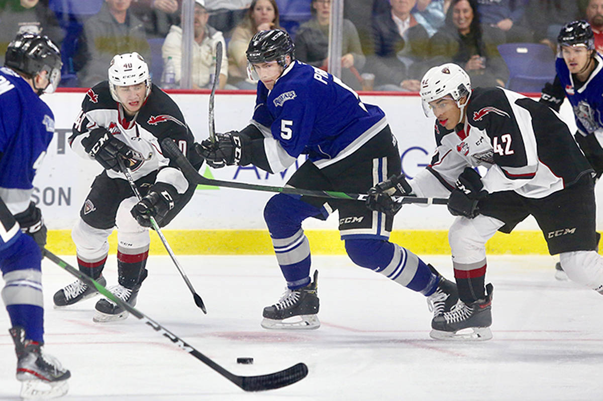 Wednesday afternoon at the Langley Events Centre the Vancouver Giants dropped a 1-0 decision to the Victoria Royals (20-12-2-0). (Rik Fedyck/Vancouver Giants)