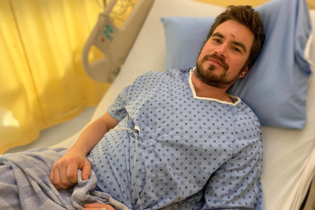 Mark Gayowski is recovering in hospital after spending two nights lost out of bounds on Red Mountain ski resort. (Photo courtesy Interior Health)