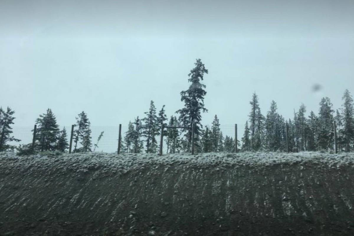 This photo was taken last night as snow just started to fall on the Coquihalla. (IMAGE CREDIT: CONTRIBUTED)