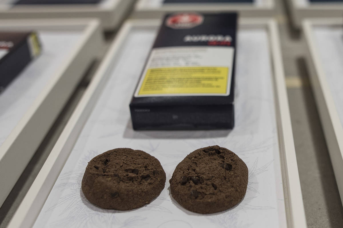 Soft-baked cookies from Aurora Cannabis Enterprises are photographed at the Ontario Cannabis Store in Toronto on Friday, January 3, 2020. The arrival of legal cannabis edibles, vapes and other products in Ontario won't necessarily meet the government's stated goal of cutting into the black market, according to industry observers. THE CANADIAN PRESS/ Tijana Martin
