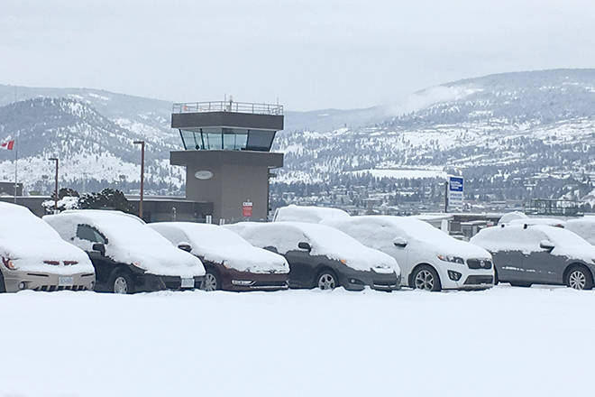 WestJet passengers on route to Penticton were stopped short due to 'uncontrollable weather' and diverted back to Calgary, where they will spend the night. (Black Press file)