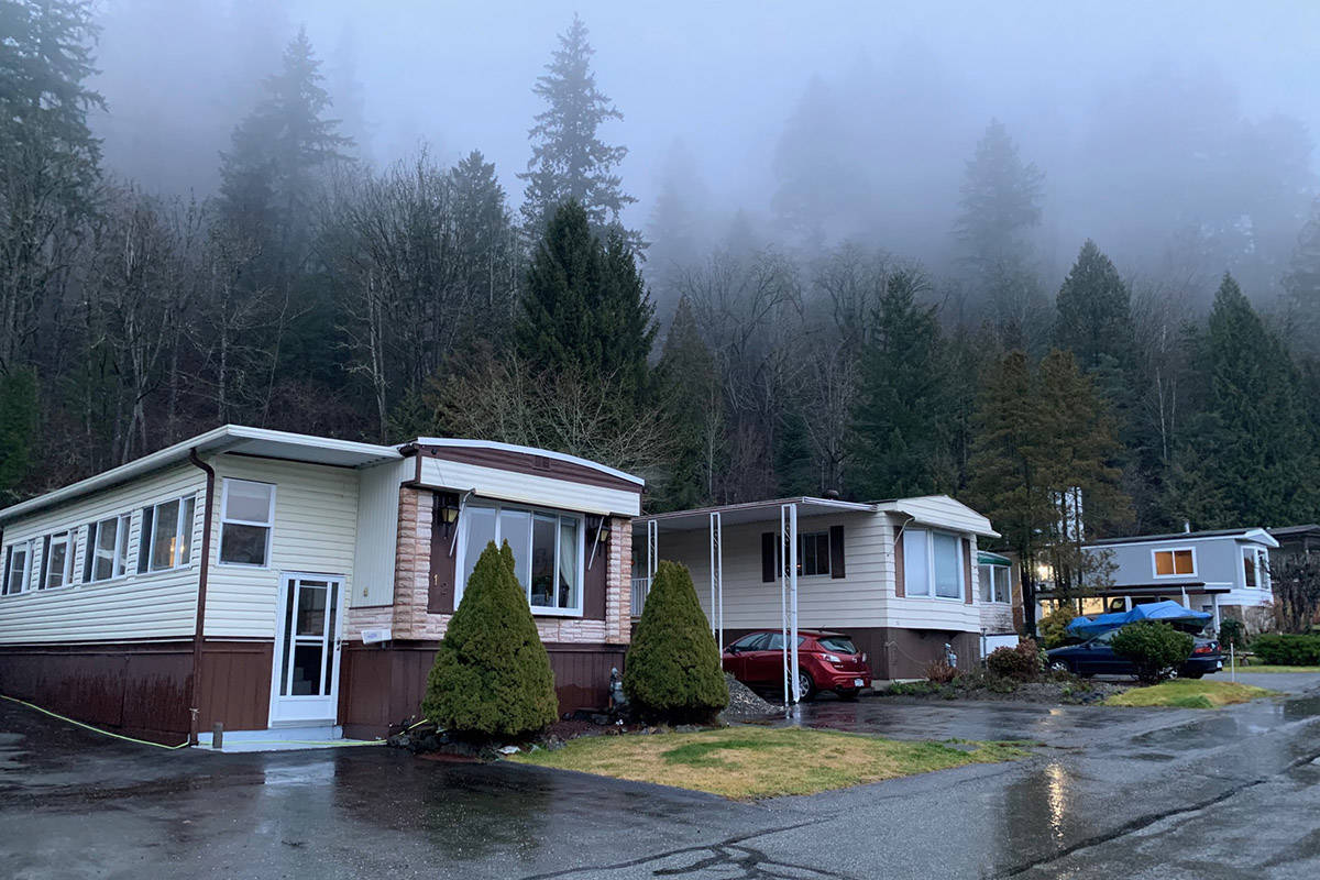 A local state of emergency has been declared for a mobile home park in the Chilliwack River Valley, with five units on evacuation notice, due to heavy rains and the potential for debris flow as of Jan. 7, 2020. (Paul Henderson/ The Progress)