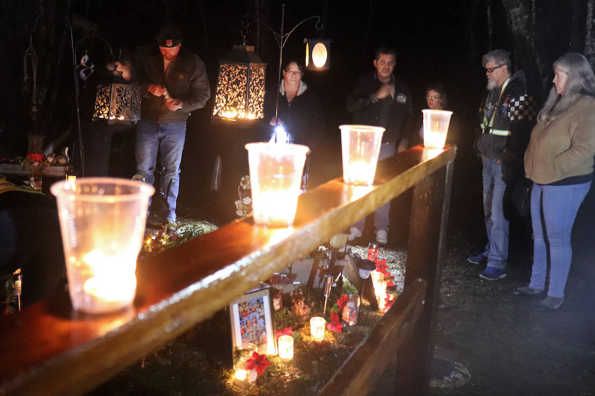 Candles lit for Carley 17 years later at refurbished roadside memorial