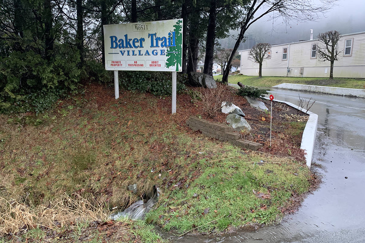 As of Jan. 8, 2020 the local state of emergency was lifted for a mobile home park in the Chilliwack River Valley. Five units were on evacuation notice, due to heavy rains and the potential for debris flow as of Jan. 6. (Paul Henderson/ The Progress)