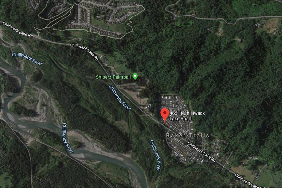 A local state of emergency has been declared for a mobile home park in the Chilliwack River Valley due to heavy rains and the potential for debris flow as of Jan. 7, 2020. (GoogleMaps)
