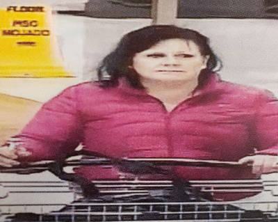 This photo is of one of two people wanted in connection with the theft of $150 of merchandise on Jan. 7 from the Superstore. (Langley RCMP file 2020-880)