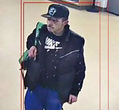 Police are looking for a male in connection to the break in of the Aldergrove Community Centre and the theft of a $3,000 laptop. (Langley RCMP photo, file 2020-56)