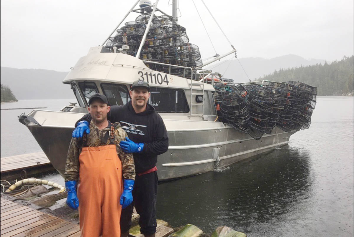 Cowichan Bay fisherman Lance Underwood has concerns with plans to set up marine protected areas off the coast of Vancouver Island and B.C. Pictured is Underwood (right) posing with a colleague in a recent photo. (Submitted photo)