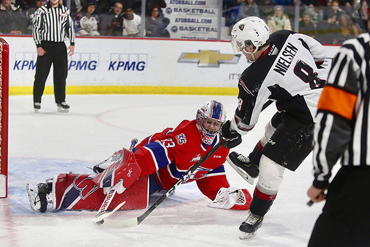 Vancouver Giants fell 6-3 to the visiting Spokane Chiefs on Saturday night at Langley Events Centre. (Rik Fedyck/Vancouver Giants)