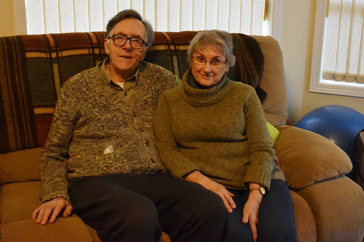 Joel and Yvonne Rosenau moved to the Comox Valley from Nanaimo in 2015. Photo by Terry Farrell