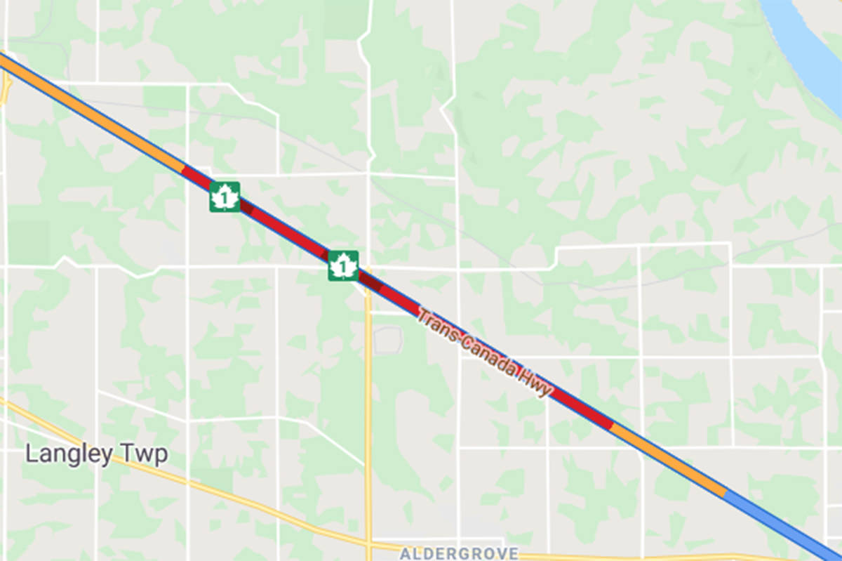 TRAFFIC: Langley Highway 1 crash slowing westbound traffic