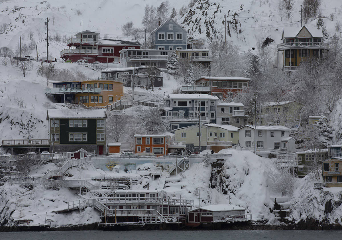 The view of The Battery in St. John's is seen on Monday, January 6, 2020, following the first major snowstorm of the year. THE CANADIAN PRESS/Paul Daly