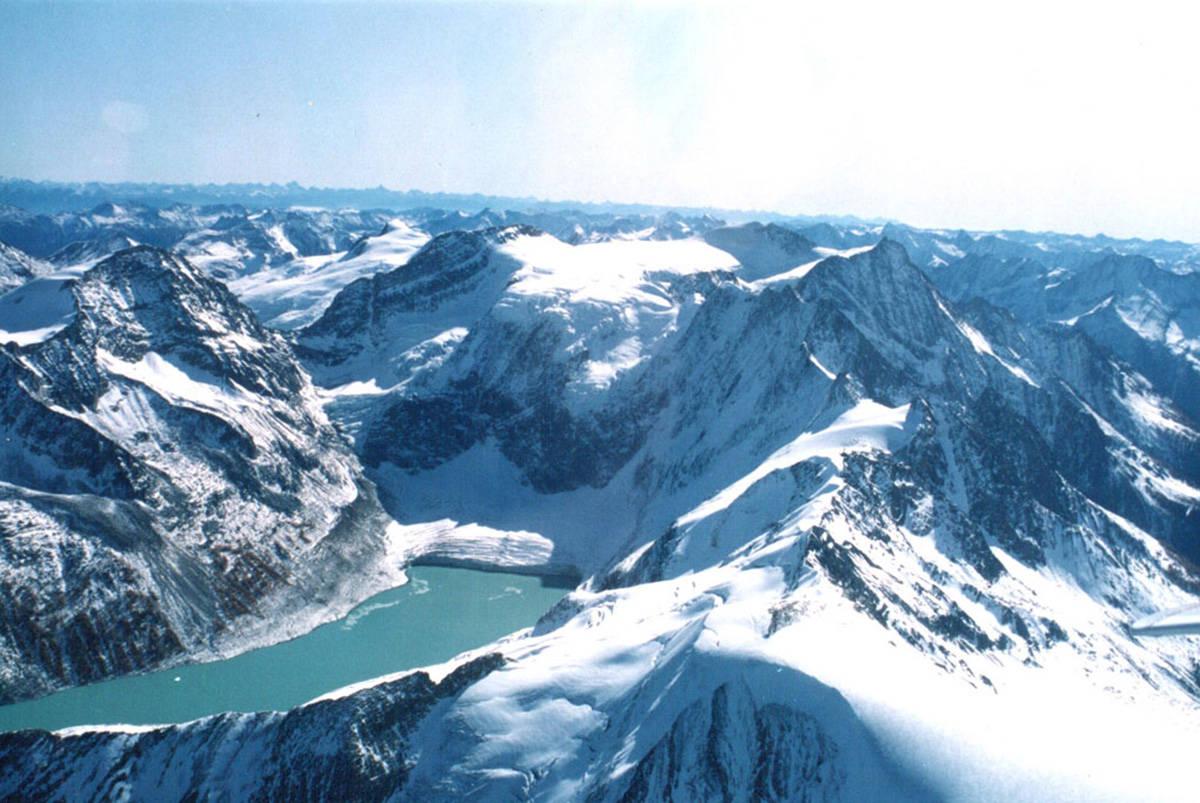 Jumbo Glacier and Lake of the Hanging Glacier. File photo.