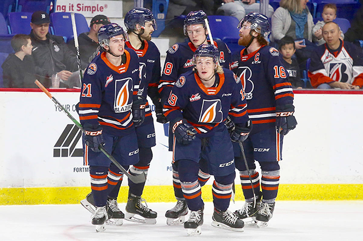 Kamloops Blazers skated away with a one-sided 4-0 victory over the host Vancouver Giants at Langley Events Centre on Sunday, Jan. 20. (Rik Fedyck/special to Langley Advance Times)