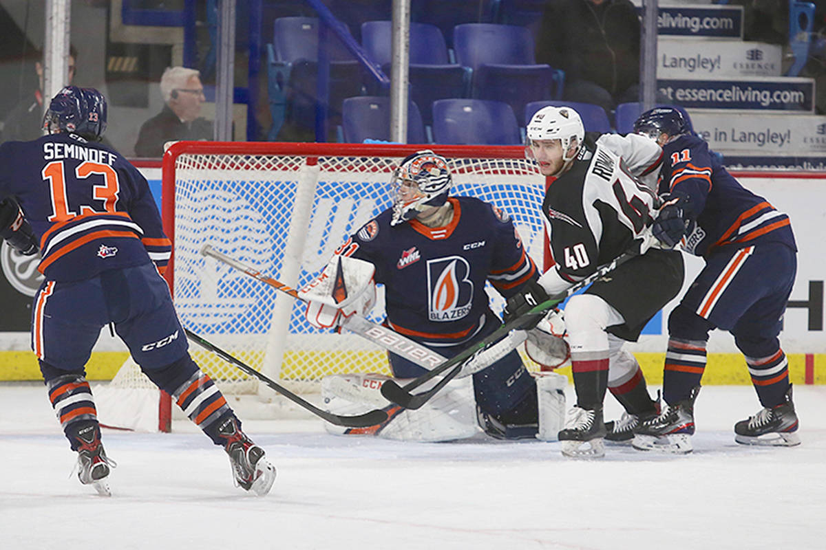 Kamloops Blazers scored a 4-0 victory Sunday, Jan. 20 over the host Vancouver Giants at Langley Events Centre. (Rik Fedyck/special to Langley Advance Times)