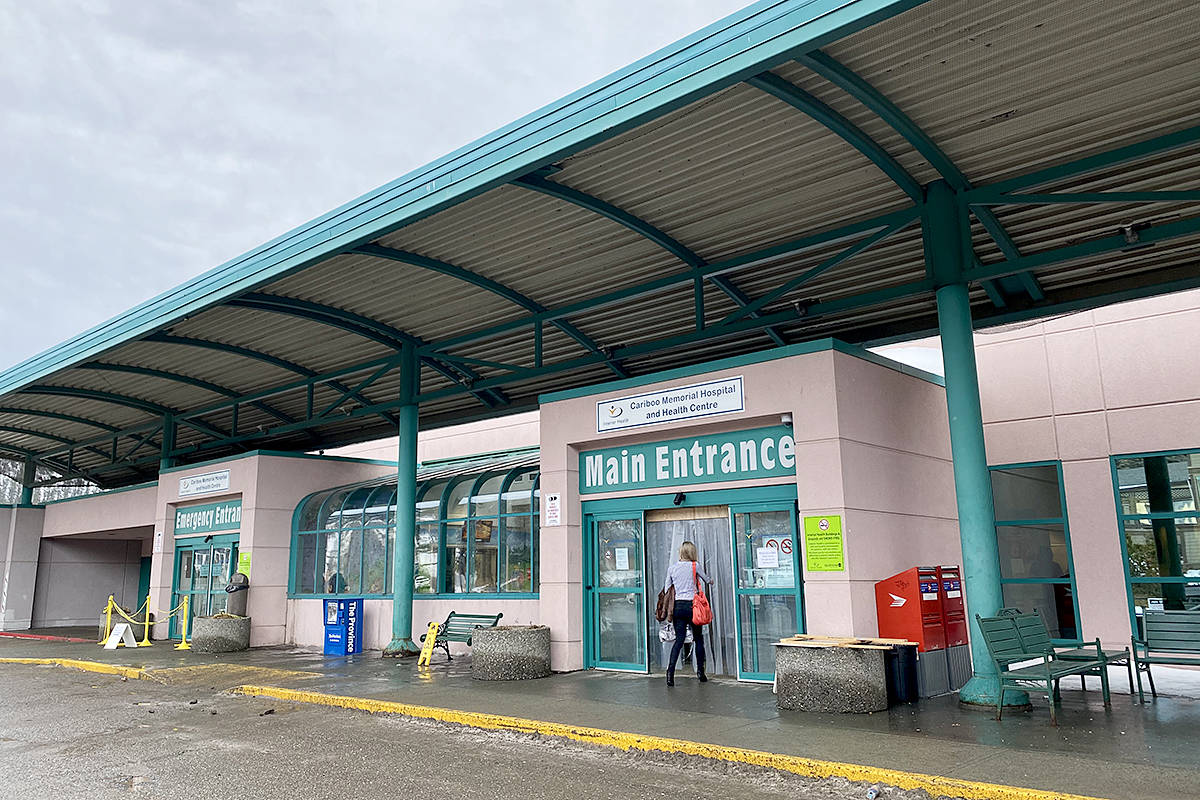 Services are back to normal Monday after cold weather forced the closure of renal, emergency and main entrances at Cariboo Memorial Hospital. (Angie Mindus photo - Williams Lake Tribune)