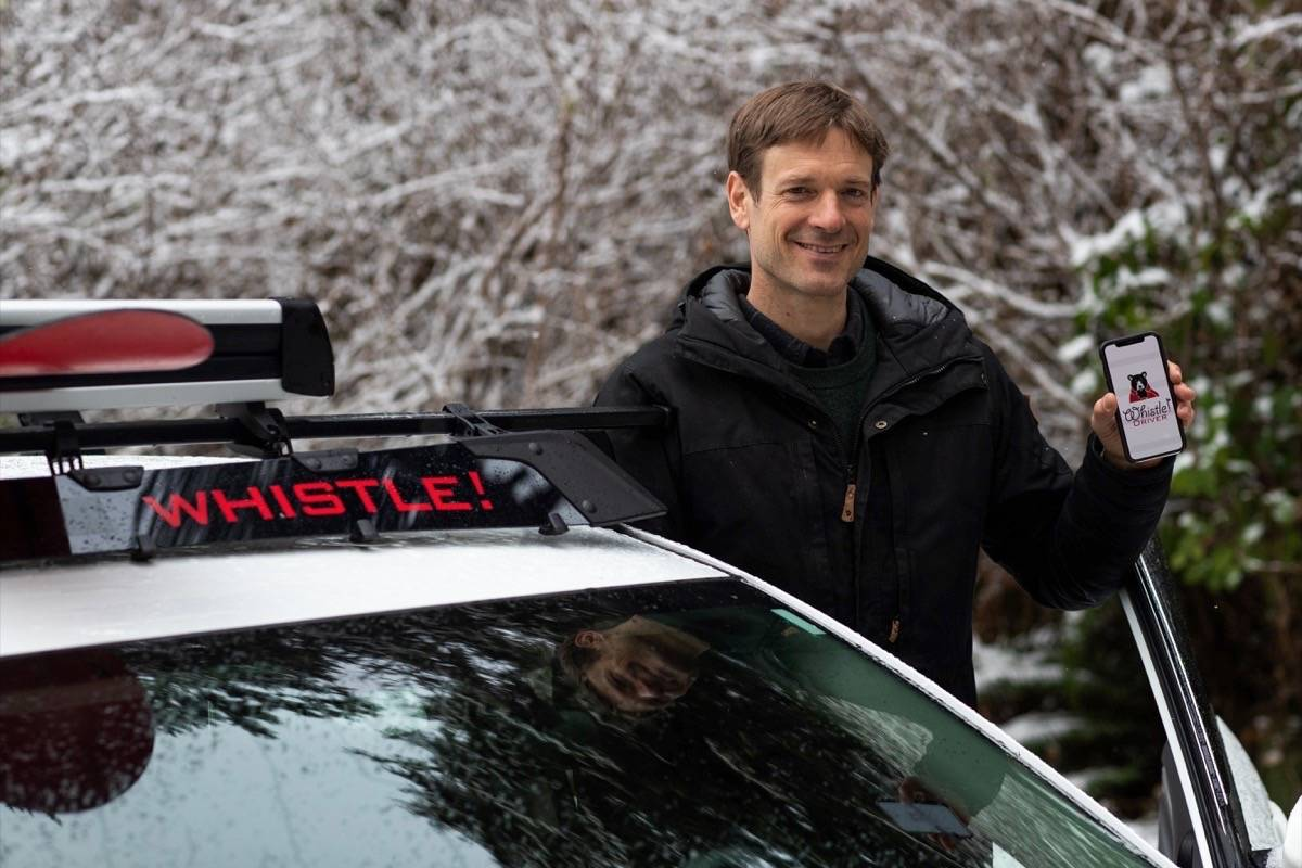 President of Whistle! Dylan Green hopes his new ridesharing service will help solve some of the Coast's transportation issues. (Kyler Vos photo)