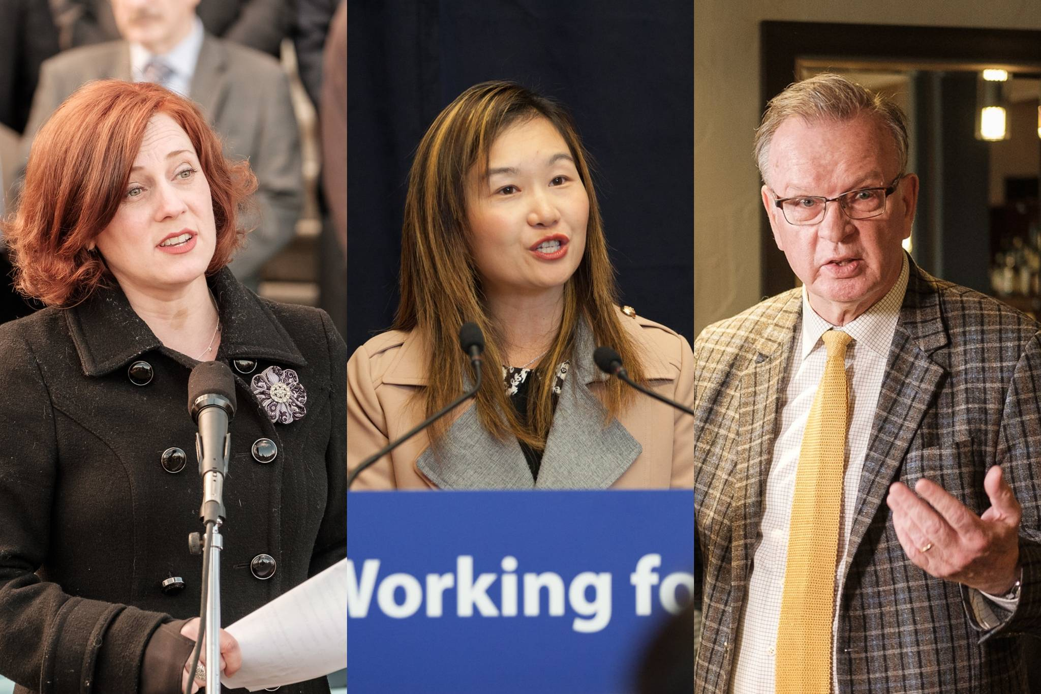 From left: Michelle Mungall, Anne Kang and Bruce Ralston. (B.C. Government photos)