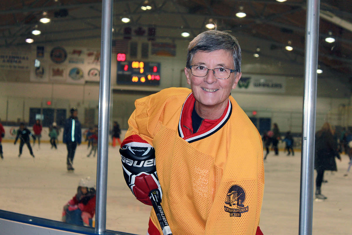 White Rock resident Sue Rittinger is on the lookout for other women hockey players, aged 55 and up, who are interested in playing at this year's BC 55+ Games in Richmond. (Contributed photo)