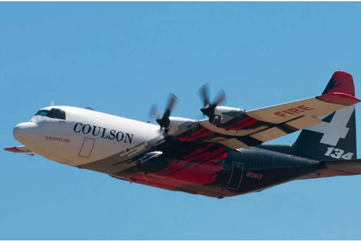 The Lockheed C-130 converted aerial firefighting tanker, owned by Coulson Aviation, crashed while fighting bushfires in New South Wales, Australia on Jan. 23, 2020. (FLIGHTAWARE PHOTO)