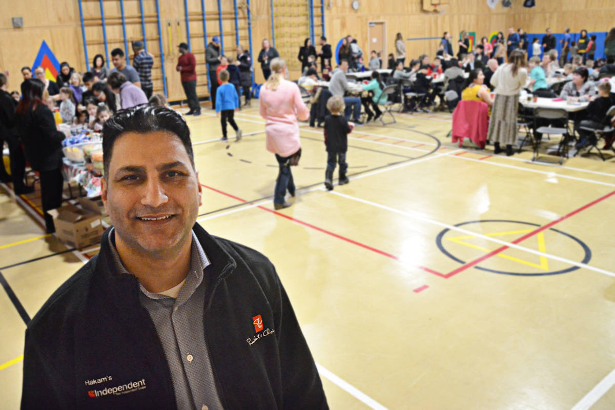 Hakam Cheema of Hakam's Indpendent Grocer, next door to Willoughby Elementary, provided the breakfast. (Matthew Claxton/Langley Advance Times)