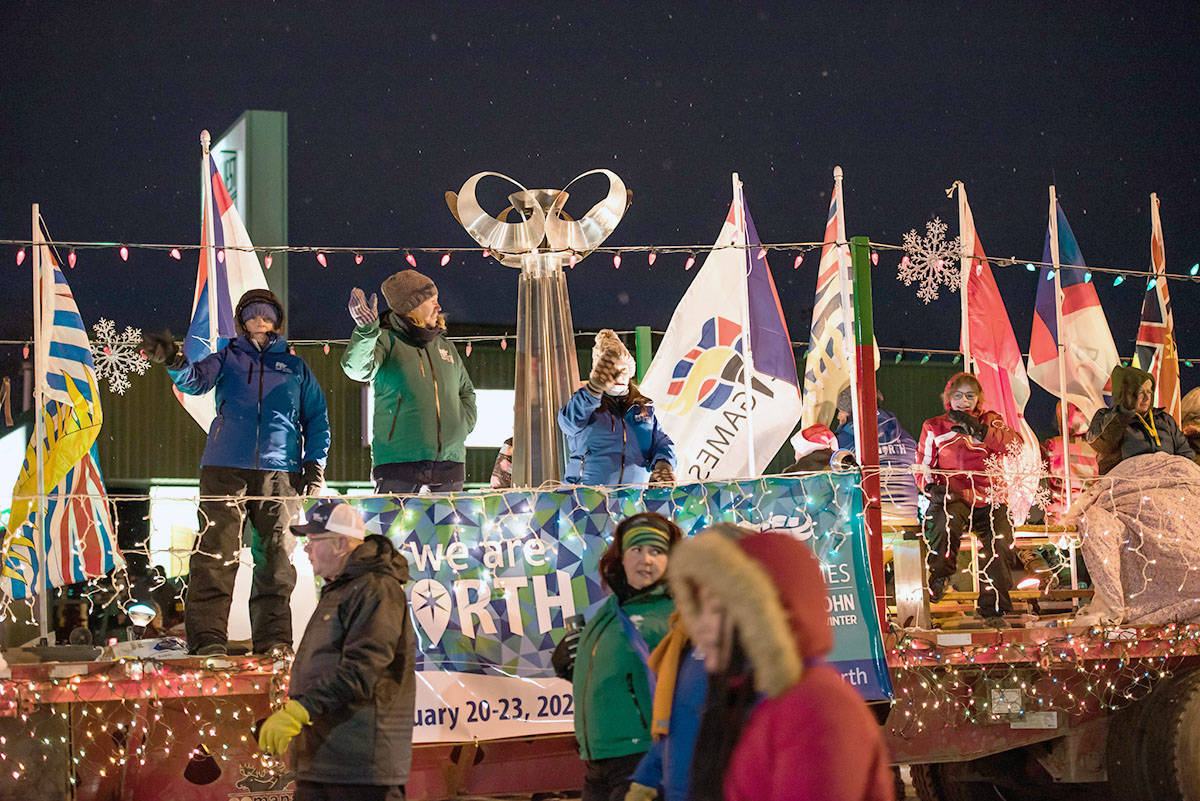 Fort St. John 2020 Winter Games torch lighting and ceremony in December 2019. (BC Games Society photo)