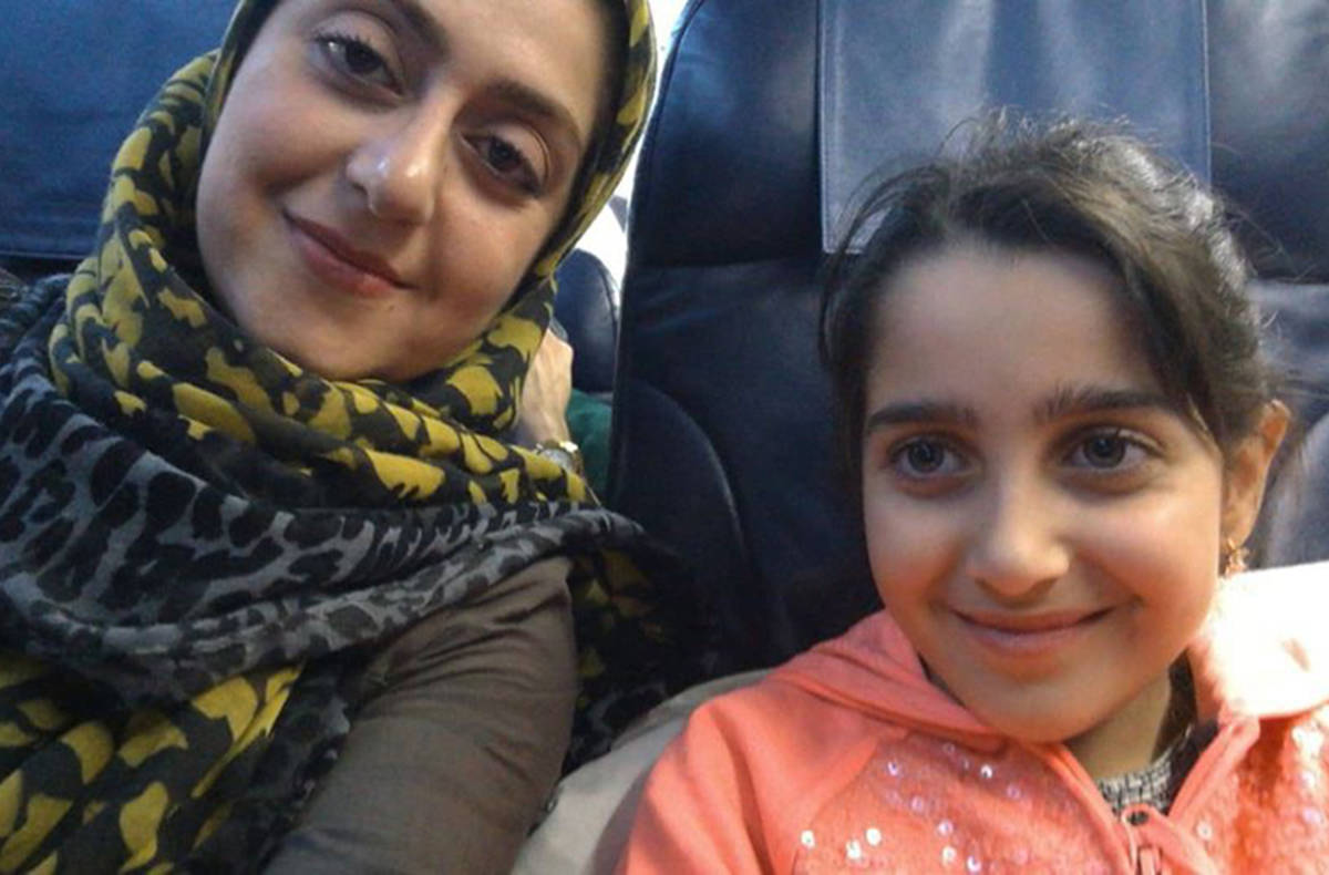 Sahar Haghjoo and her daughter Elsa Jadidi are seen in this handout photo. (Habib Haghjoo/Contributed)