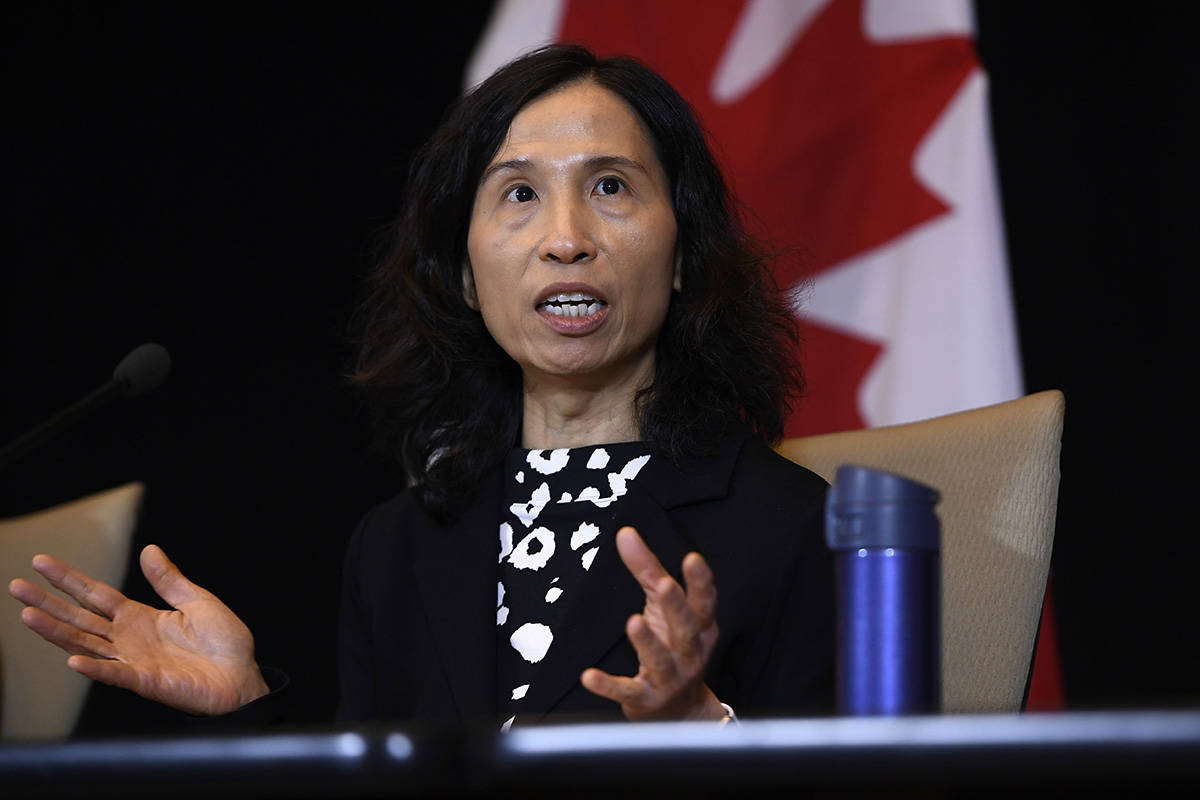 Chief Public Health Officer of Canada Dr. Theresa Tam participates in a press conference following the announcement by the Government of Ontario of the first presumptive confirmed case of a novel coronavirus in Canada, in Ottawa, on Sunday, Jan. 26, 2020. THE CANADIAN PRESS/Justin Tang