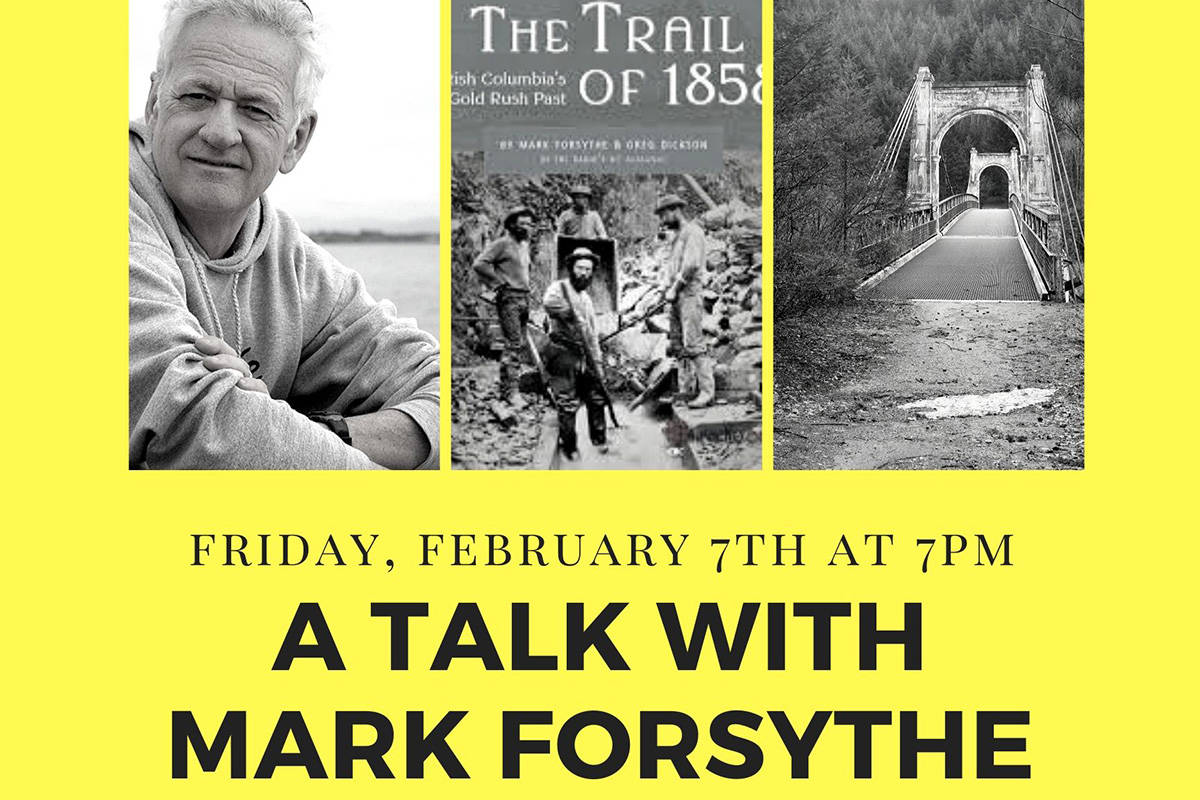 Fort Gallery welcomes author and former CBC radio host Mark Forsythe for gold rush history talk