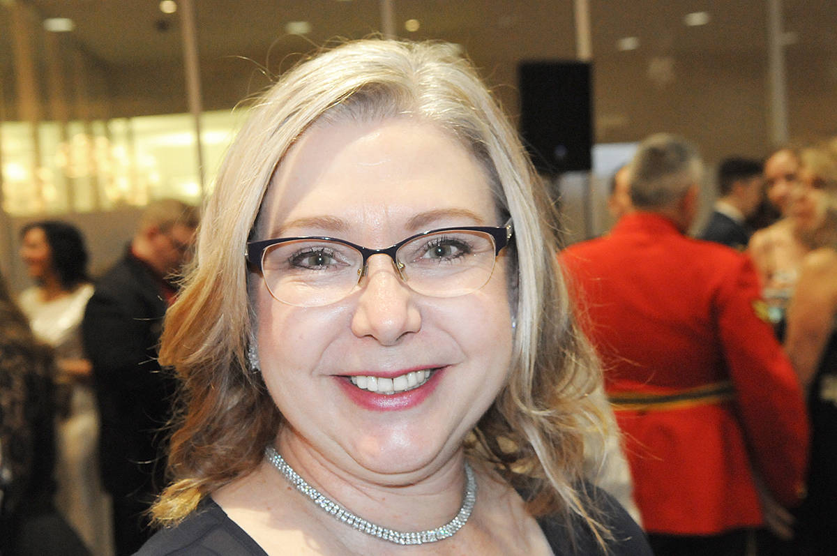 """Langley MLA Mary Polak was M.C. at the first """"Winter Wonderland"""" fundraiser held at the Cascades Casino and Resort in Langley City on Saturday, Jan. 25 (Dan Ferguson/Langley Advance Times) (Dan Ferguson/Langley Advance Times)"""