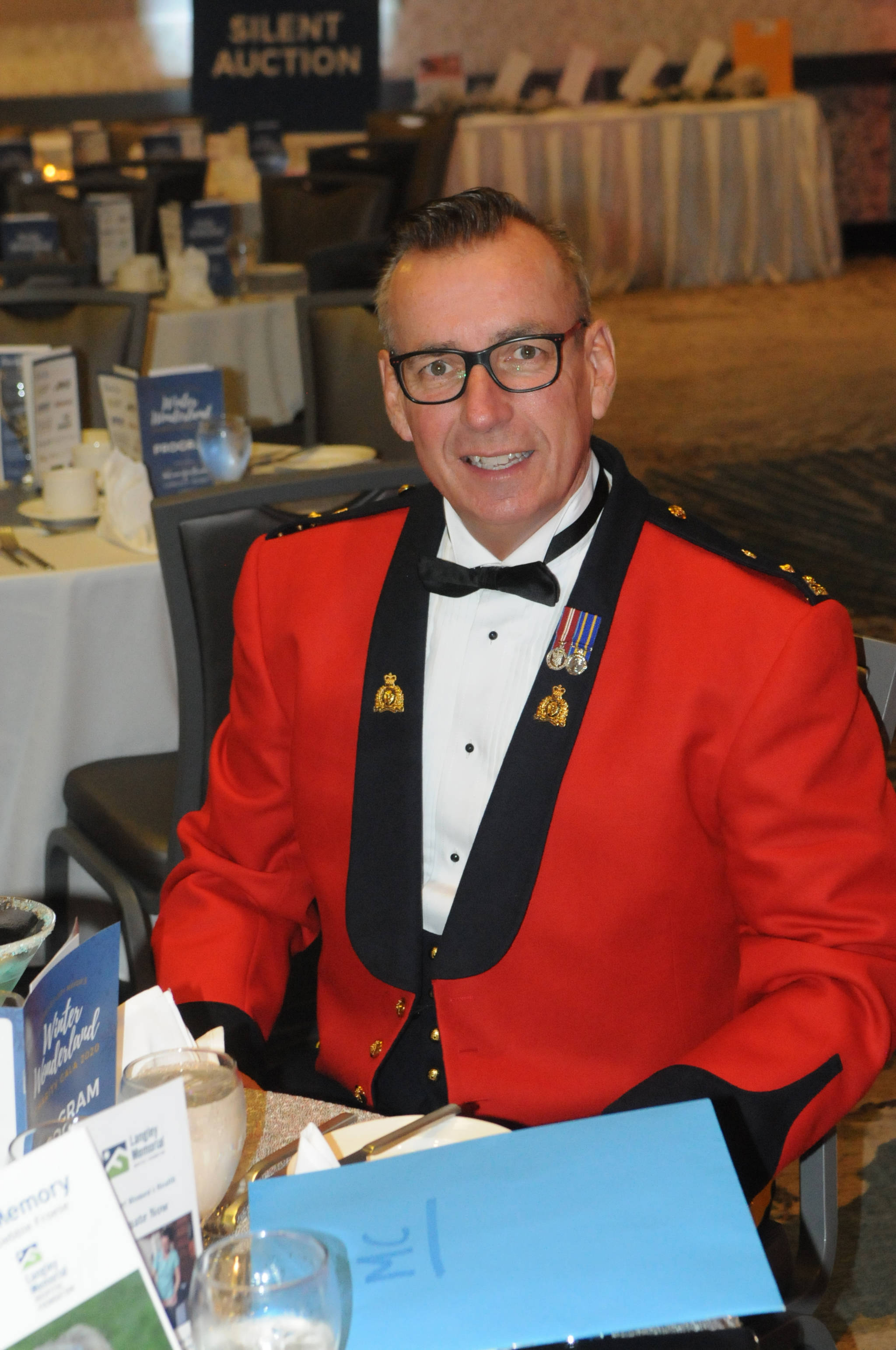 """Langley RCMP Supt. Murray Power was one of several officers who attended the """"Winter Wonderland"""" fundraiser held at the Cascades Casino and Resort in Langley City on Saturday, Jan. 25 (Dan Ferguson/Langley Advance Times)"""