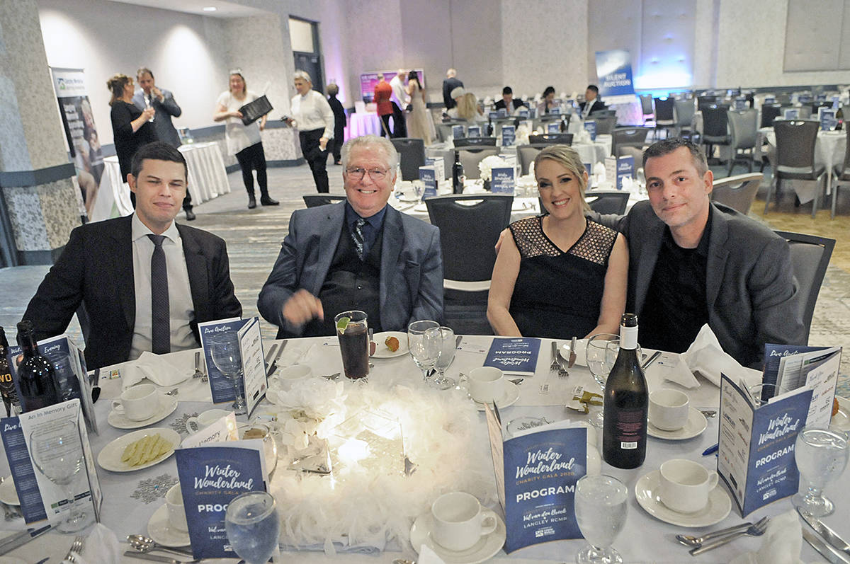 """The first """"Winter Wonderland"""" fundraiser held at the Cascades Casino and Resort in Langley City on Saturday, Jan. 25 was a success, selling out in the first week, leading organizers to add tables. (Dan Ferguson/Langley Advance Times)"""